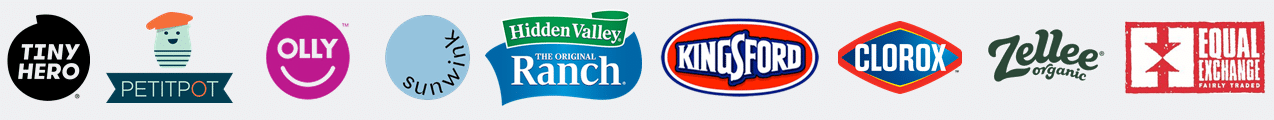 Nourishing Food Marketing Client Logos tiny hero petit pot olly sunwink hidden valley ranch kingsford clorox zellee organic equal exchange